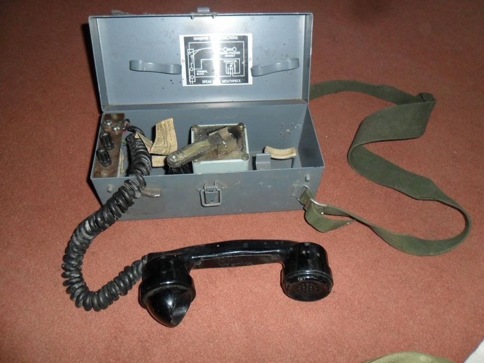 Army (RN) WW2 Hand Crank Field Phone   Sound Powered Telephone Co Ltd