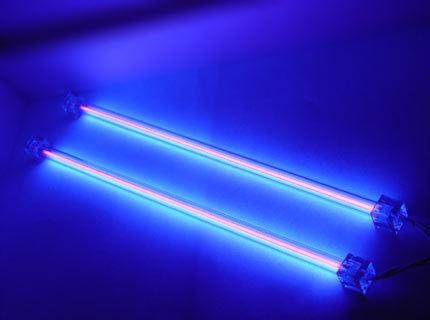 DUAL 12 BRIGHT COLD CATHODE COMPUTER CASE NEON LIGHT TUBE KIT CCFL UV