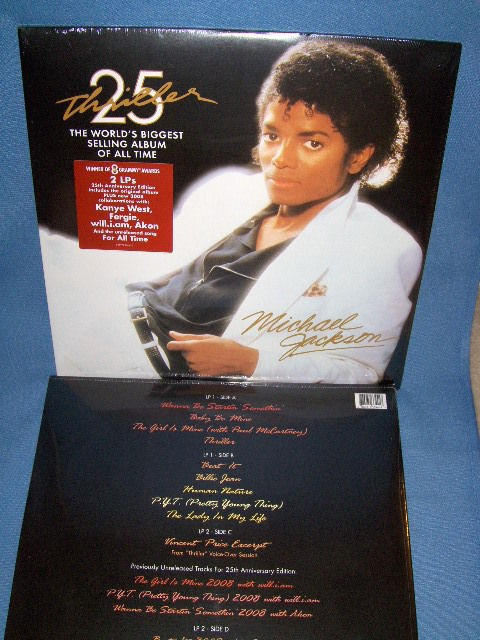 MICHAEL JACKSON THRILLER 25TH ANNIVERSARY DOUBLE VINYL GATEFOLD LP
