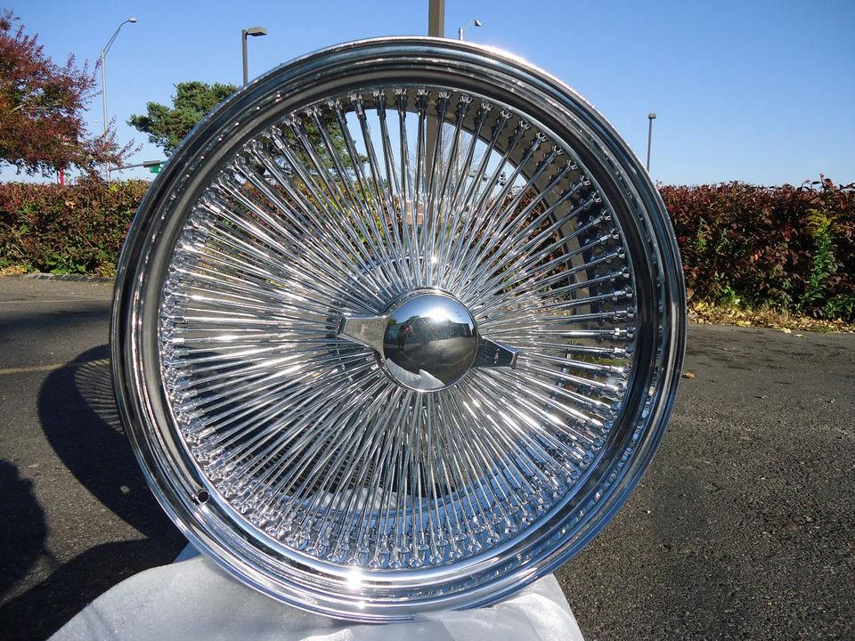 Chrome 24x10 Wire Wheels Full Set Rims NEW Dayton OG 204 Spokes Chrome