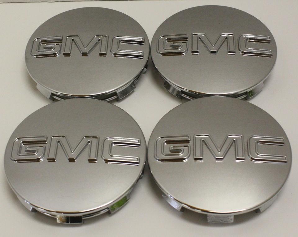 GMC Sierra Yukon Denali Center Caps 9595759 OEM 3 1/4 in Fits 18 20 22