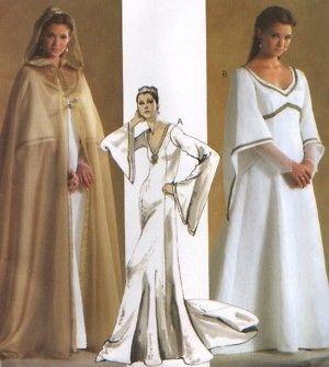 4378 SEWING PATTERN Medieval Dress Cape/Cloak LOTR Wedding