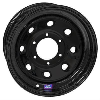 Bart Wheels Super Trucker Black Steel Wheel 15x12 5x5.5 BC