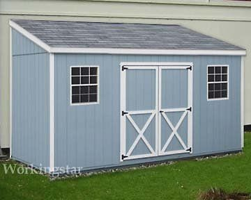 X12 Slant Lean To Style Shed Plans See Samples