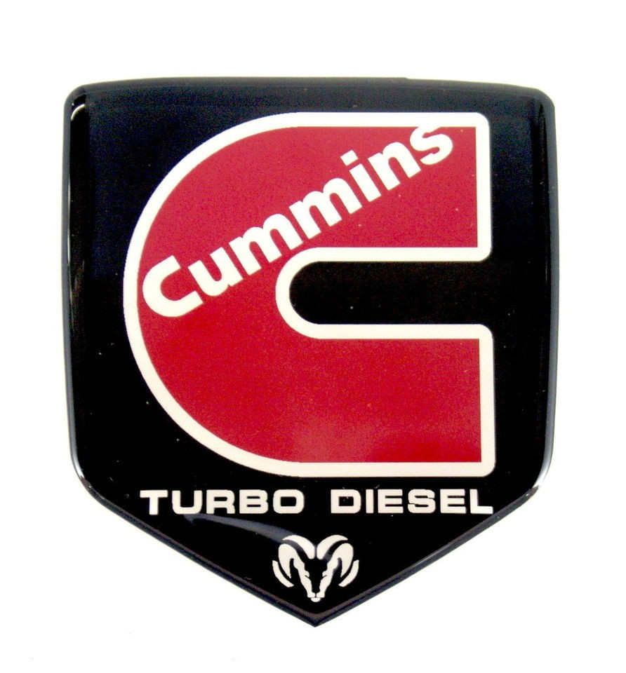 Cummins Td Emblem Dodge Grille 2006 2010 Red Satin
