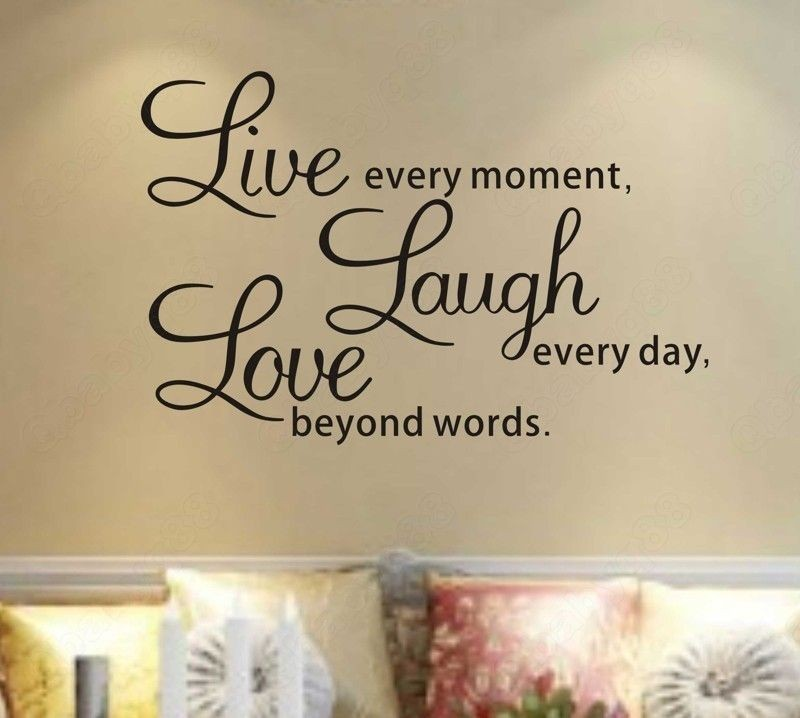 decals Removable stickers decors Vinyl art Live laugh love(small