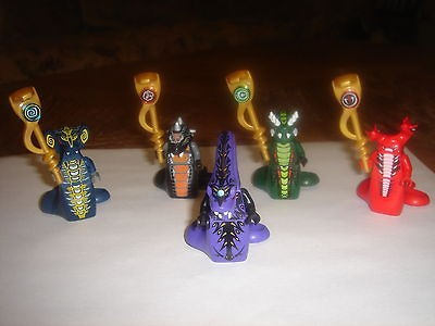 LEGO Ninjago ACIDICUS, Skalidor, Pythor, Fangtom, Skales MINIFIGURES