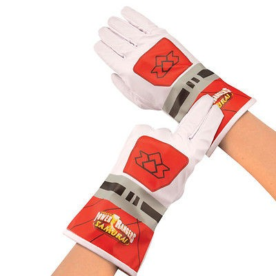 POWER RANGERS SAMURAI RED MEGA MODE RANGER FIRE GEAR COSTUME GLOVES