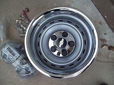 15x8 Chevy Gmc Truck Pickup Impala Rally Wheels Rims 5 Lug