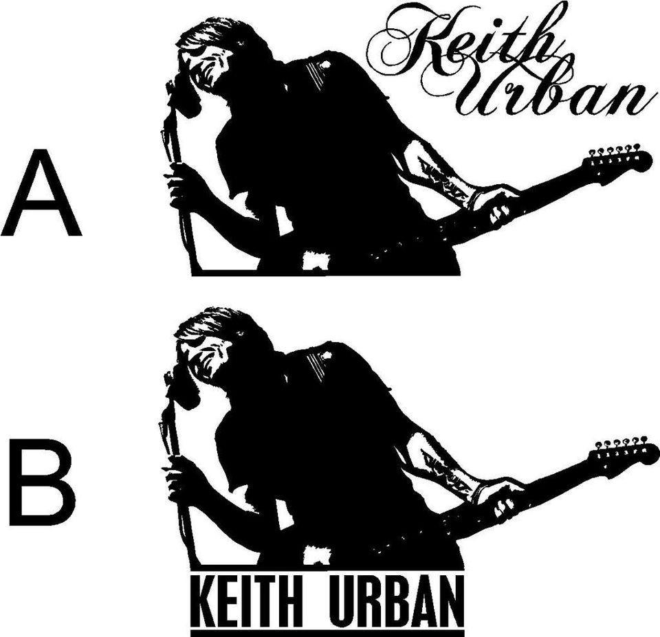 KEITH URBAN Microphone Vinyl Wall Car Decal Sticker