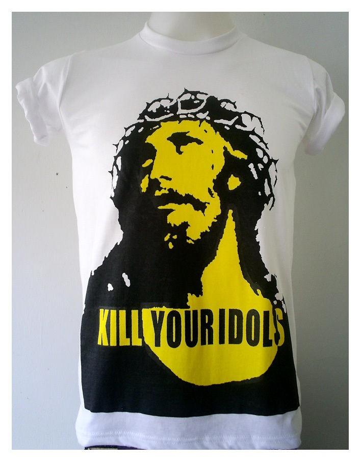 Kill Your Idols Axl Rose Shirt Guns N Roses Classic Rock white Shirt