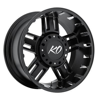 22 Black REV Beast Wheels GMC Chevy Ford Truck 2500 3500 F 250 F 350