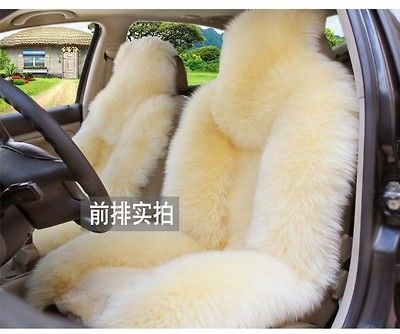Sheepskin car seat cover 2pcs front seat covers car car cushion super