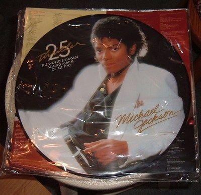 MICHAEL JACKSON THRILLER 25TH ANNIVERSARY PICTURE DISC ALBUM/VINYL/LP