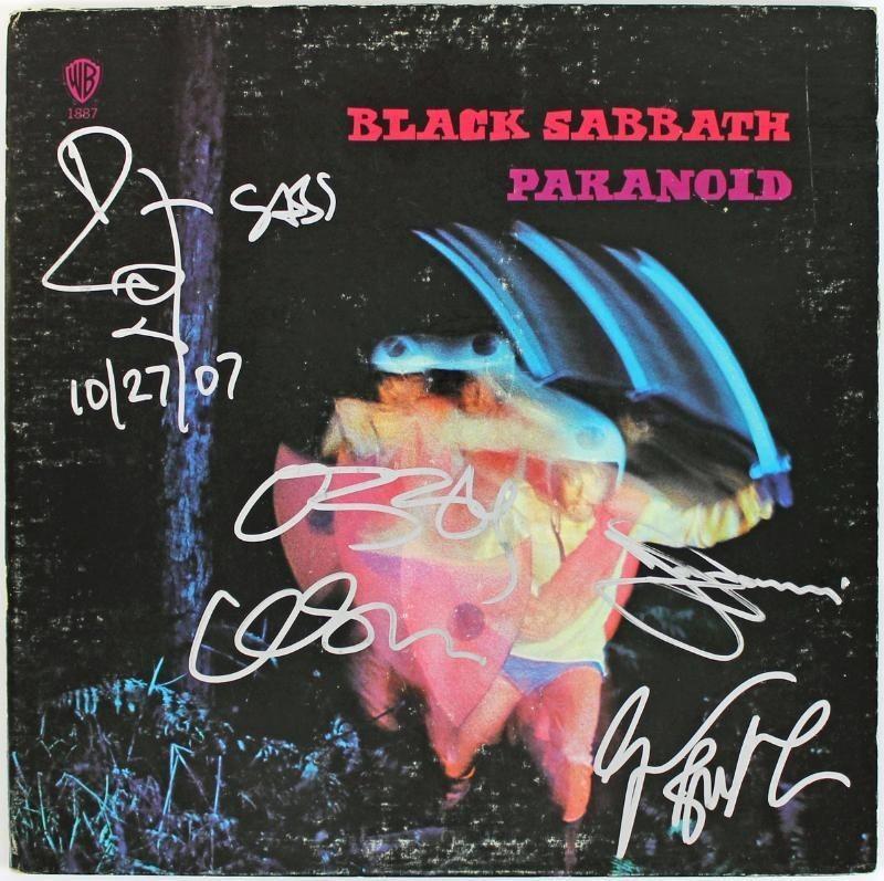 BLACK SABBATH (4) OSBOURNE WARD BUTLER & IOMMI SIGNED ALBUM W/ VINYL