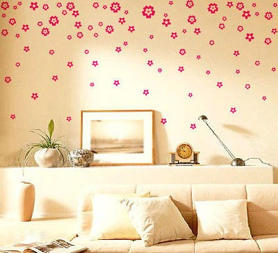 Flowers Decor Mural Art Wall Paper Sticker Decal S055 (various colors)
