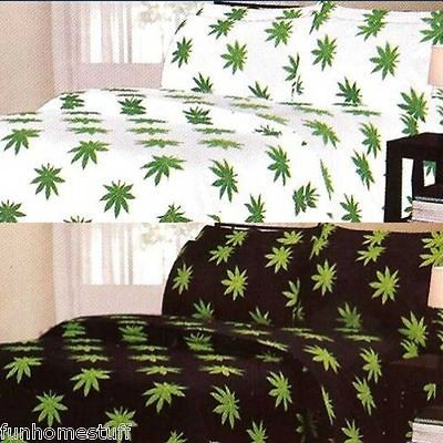 Pot / Marijuana Leaf Weed 420 Microfiber Bed Sheet Set all Sizes in