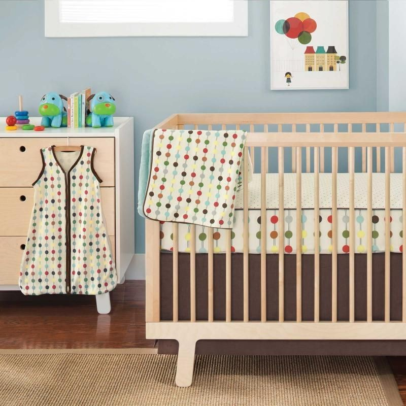 mod dot complete sheet bumper free 4 piece crib set by skip