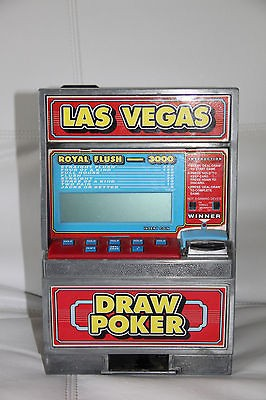 Radica Las Vegas Casino Draw Poker Jackpot Slot Machine Bank