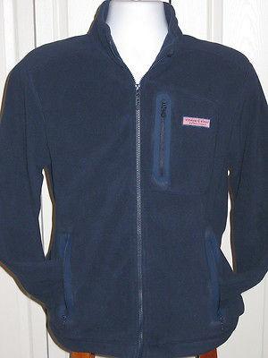 Mens Vineyard Vines Mooring Jacket FLEECE Full Zip Navy SZ XXL 2XL
