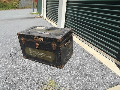 Vintage Military Foot locker storage box Vietnam era old army war Lot
