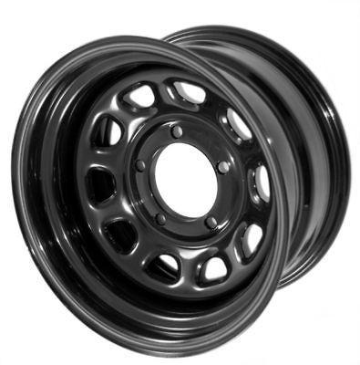 BLACK Steel Wheel 15X8 5x4.5 JEEP WRANGLER 1987 2006