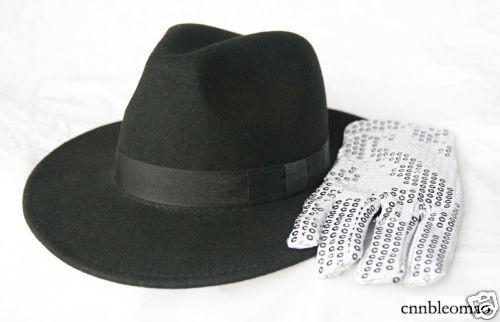 3PCS MICHAEL JACKSON MJ Billie Jean Hat+Glove+Socks New