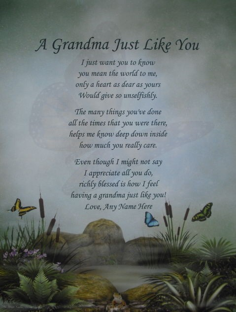 LIKE YOU PERSONALIZED POEM BIRTHDAY, CHRISTMAS OR MOTHERS DAY GIFT