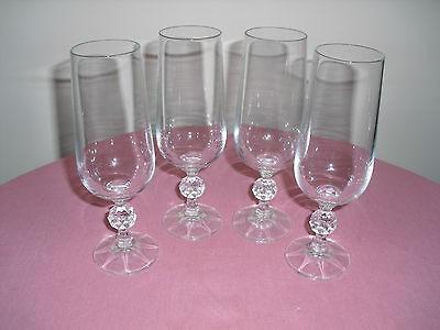 CLAUDIA BOHEMIA CRYSAL CHAMPAGNE FLUE SE OF GLASSES 180 ML