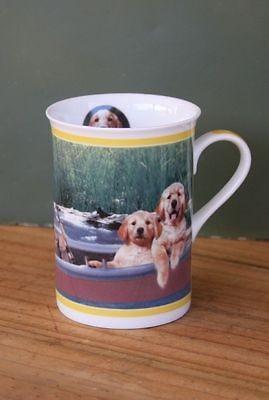 Mug Coffee Danbury Mint Fishing Golden Retriever Dog