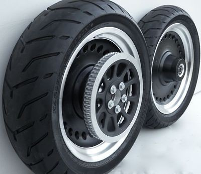 2012 Harley Davidson Fatboy Lo FLSTFB Black Wheel Set Rims Tires
