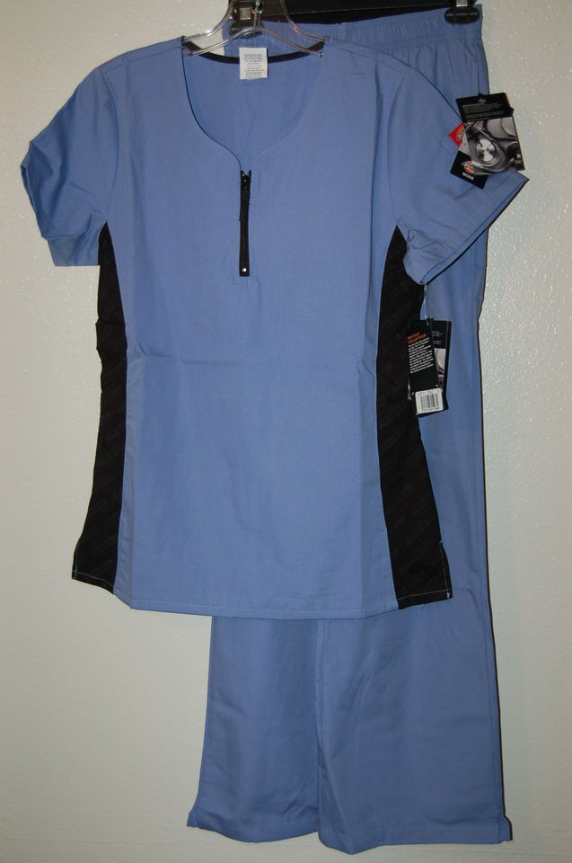 Dickies scrubs New Hip Flip collection Ciel Blue scrub set Ships Free