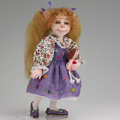 JOY OOAK Fairytale Mouse BJD Art Doll with Articulated Head and Arms
