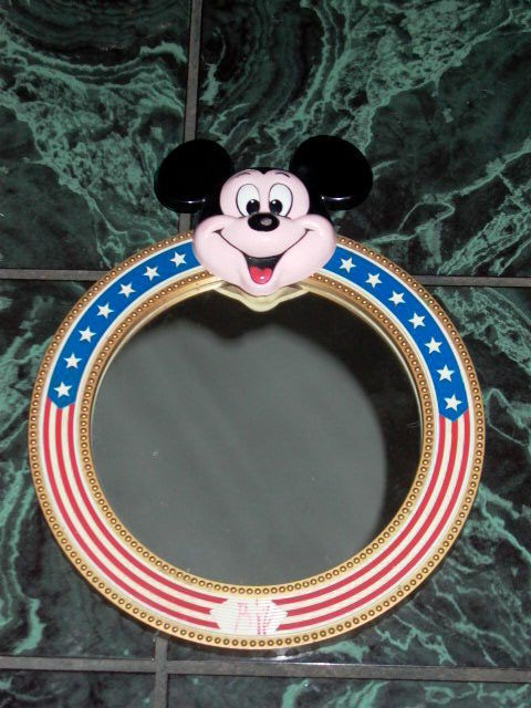 Mickey Mouse Walt Disney Productions Vintage Wall Mirror Stars