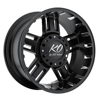 17 Black REV Beast Wheels GMC Chevy Ford Truck SUV f 150 Silverado 6