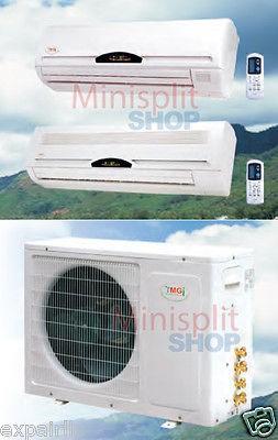 Split 2 x 9000 13 SEER Air Conditioner Cooling Heat Pump YMGI Dual