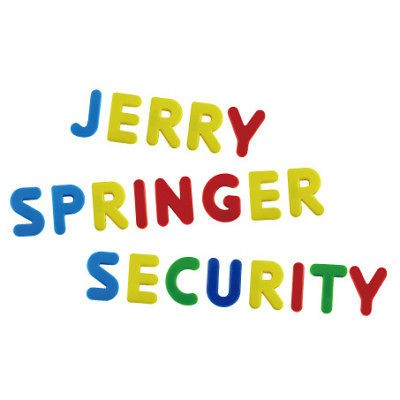 Jerry Springer Security Men T Shirt S M L XL 2XL 3XL