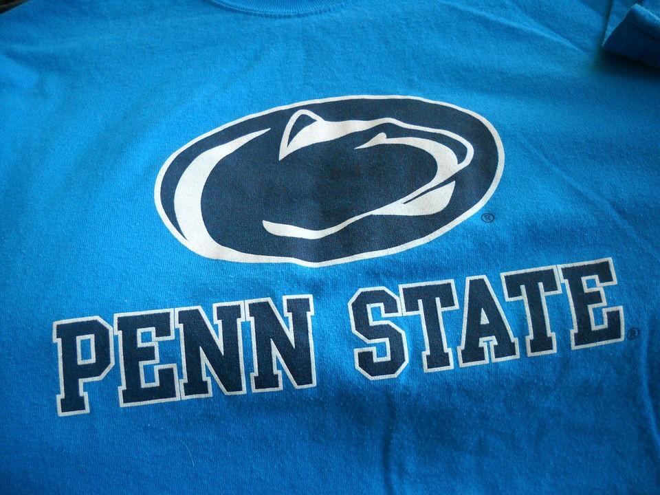 Penn State Light Blue w/Dark Blue & White Football Sports College T