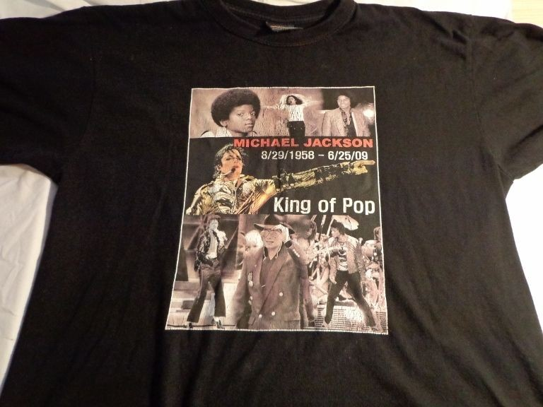 Michael Jackson King of Pop t shirt size is Large
