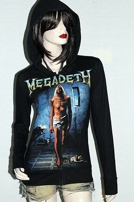 Megadeth Heavy Metal Rock DIY Slim Fit Hoodie Jacket Top Shirt