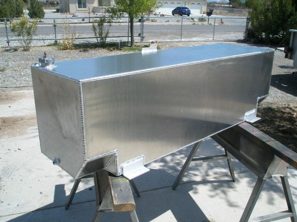 Custom Aluminum Auxiliary Fuel Transfer Tank Diesel Veg Oil Bio Fuel