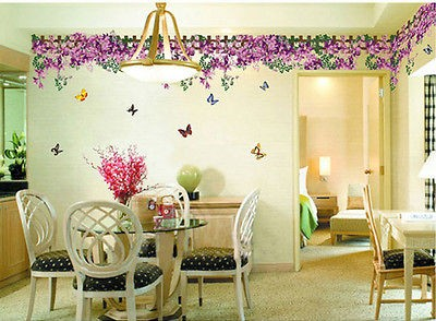 Feifei flower sticker wall Decal Removable Art Vinyl Decor Home Kid