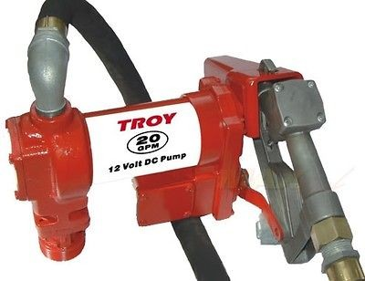 Troy TFTP20 20 GPM 12V Heavy Duty Fuel Diesel Gas Transfer Pump   12