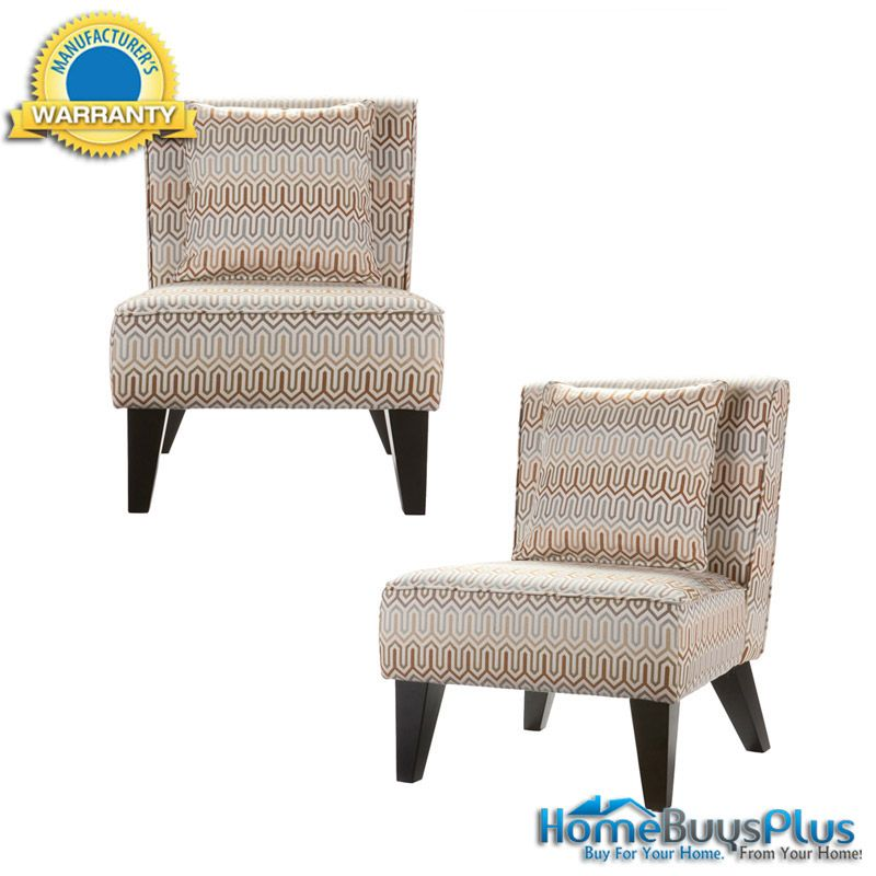 Pillows For Living Room Chairs: Set Of 2 Sybilla Armless Accent Chairs With Pillows Living