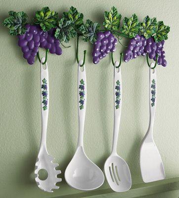 Grapevine Kitchen Utensil Holder & Tools Fruit Grape Kitchen ...