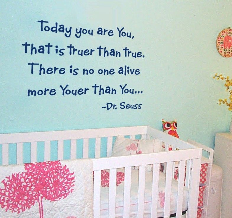 Children Quote Wall Decal Dr Seuss Quote Nursery Kids Vinyl Wall Decal