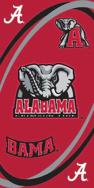 Alabama Crimson Tide 30X60 License Official Beach Towel NCAA College