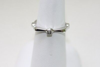 Amy Levine 18K White Gold Diamond Stackable Ring