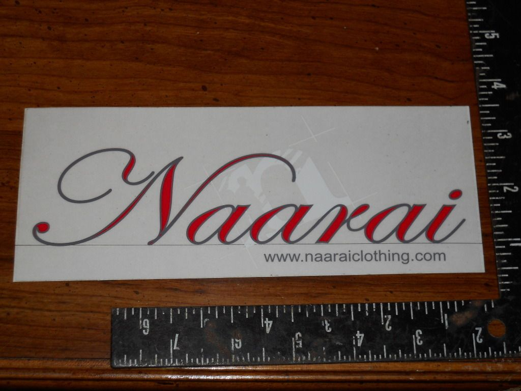Naarai Clothing Sticker Car Home Skate Bike Boat Ski