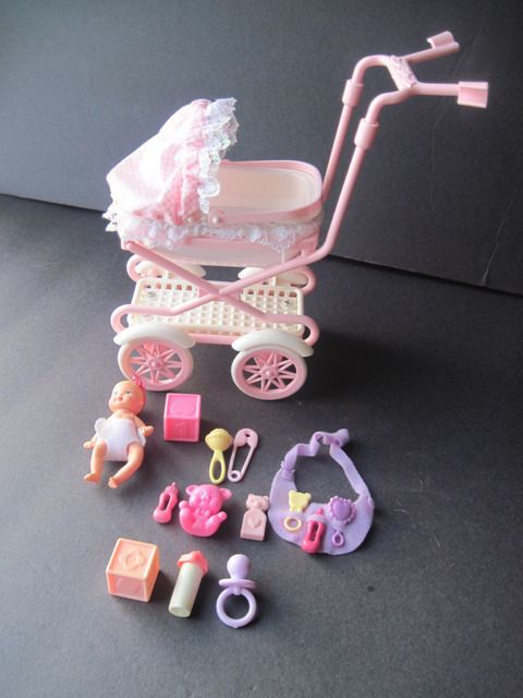 Happy Family Barbie baby, stroller & accessories